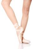 Detail of ballet dancer's feet Royalty Free Stock Photos
