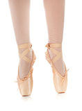 Detail of ballet dancer's feet Royalty Free Stock Photos