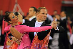 Detail of ballrooming dancers. The detail of dancing Jiri Liska and Mirka Navratilova in the czech championship in the international standard dances. IT took in Stock Images