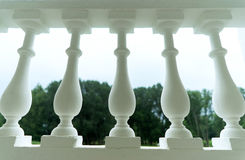 Detail of a balustrade. Shooted by a wide-angle lens from the bottom point Stock Image