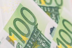 Detail of banknotes of the European Union as a background. Selective focus Stock Photography