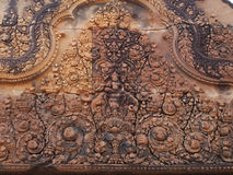 Detail from Banteay Srei, Siem Reap Royalty Free Stock Photography