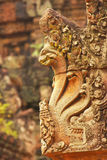 Detail of Banteay Srey temple, Angkor area, Siem Reap, Cambodia Royalty Free Stock Image