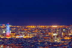 Detail of Barcelona at night Royalty Free Stock Photography