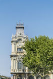 Detail of barcelona port  building -close up Royalty Free Stock Photo