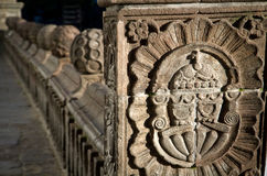 Detail of baroque architecture in Cathedral church Stock Photography