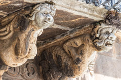 Detail of baroque balcony Royalty Free Stock Images