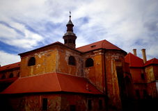 Detail of Baroque church. In monastery Plasy, Czech Republic royalty free stock image