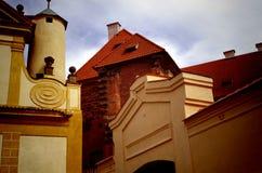 Detail of Baroque church. In monastery Plasy, Czech Republic stock photo