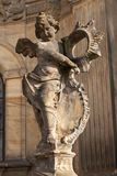 Detail of baroque Column in Olomouc. Classical Baroque artwork. Detail of sculptures. Detail of baroque Column in Olomouc. Classical Baroque artwork. Detail of Royalty Free Stock Image