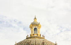 Detail of a baroque dome. Royalty Free Stock Photos