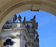 Detail of Basilica of Mount Berico in Vicenza Italy. Detail of Basilica of Mount Berico in Vicenza City Italy with big arch Stock Photos