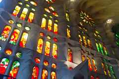 Detail of Basilica of Sagrada Familia Stock Photos
