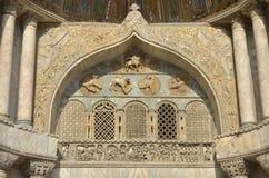 A detail of Basilica of Saint Mark Stock Photos