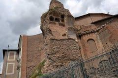 Detail of Basilica Santa Maria degli Angeli e dei Martiri. Rome, Italy - August 17, 2015: Detail of Basilica Santa Maria degli Angeli e dei Martiri in Piazza Royalty Free Stock Images