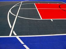 Basketball and volleyball ground stock image