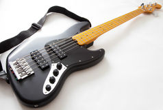 Detail of bass guitar Royalty Free Stock Photography