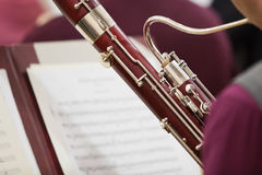 Detail of the bassoon Royalty Free Stock Photo