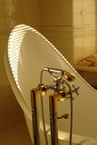 Detail of a bath. And water tap Stock Photos