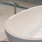 Detail of bath tub on display at HOMI, home international show in Milan, Italy. MILAN, ITALY - SEPTEMBER 13: Detail of bath tub on display at HOMI, home stock photo