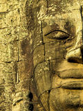 Detail of Bayon temple, Angkor Wat. Detail of stone face in Bayon Temple, Angkor Wat Stock Photo