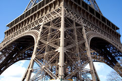Detail of beams and gurters on Eiffel Tower, Paris, France Stock Photos
