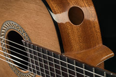 Detail of a beautiful acoustic guitar Royalty Free Stock Photo