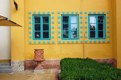Detail of Beautiful building facade Royalty Free Stock Photo