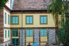 Detail of Beautiful building facade Royalty Free Stock Images