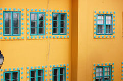 Detail of Beautiful building facade Royalty Free Stock Photography