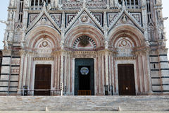 Detail of the Beautiful Facade of the Cathedral Royalty Free Stock Images