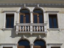 Detail of a beautiful facade. Renaissance building in Treviso, Italy Royalty Free Stock Images