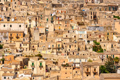 Detail of beautiful houses in town Modica, Sicily royalty free stock photo