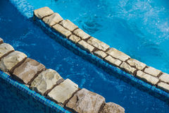 Detail of beautiful swimming pool edge Stock Photo