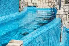 Detail of beautiful swimming pool edge Royalty Free Stock Photo