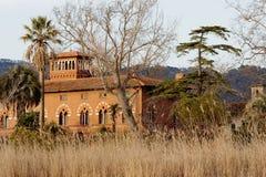 Detail of beautiful villa in massaciuccoli lake. Italy Royalty Free Stock Photo