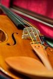 Detail of a beautiful violin Royalty Free Stock Photos