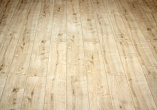Detail of a beautiful wooden brown laminated floor stock photography