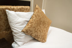 Detail of bed with  pillow Royalty Free Stock Photography