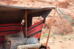Detail of a Bedouin camp Royalty Free Stock Photo