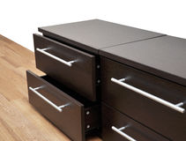 Detail of a bedroom furniture Royalty Free Stock Photography