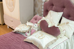 Detail of bedrooms for girls Royalty Free Stock Photos