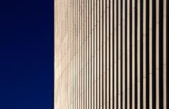 Detail of a beige building, Canary Wharf, London Royalty Free Stock Images