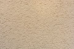 Plastered facade of a house in detail stock image