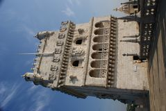 Detail of Belem Tower Royalty Free Stock Images