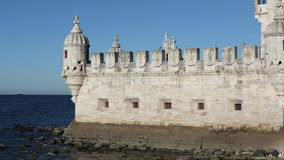 Detail of Belem Tower stock video