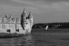 Detail Belem Tower in Portugal Royalty Free Stock Photos