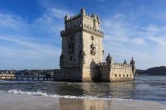 Detail Belem Tower in Portugal. Historic  Belem Tower in Portugal in Lisbon, Portugal Stock Image