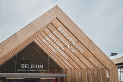 Detail of Belgium pavilion at Expo 2105 in Milan, Italy Royalty Free Stock Images