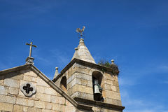 Detail of the bell tower of the Curch of the historic village of Idanha a Velha Stock Photo